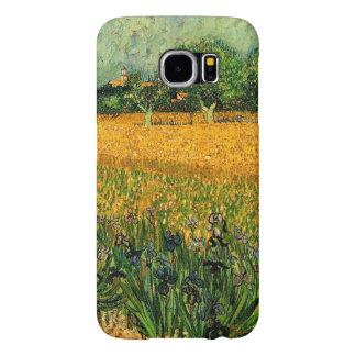 Vincent van Gogh-Vista de Arles con los iris Funda Samsung Galaxy S6