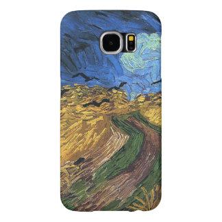 Vincent van Gogh-Wheatfield con los cuervos Funda Samsung Galaxy S6