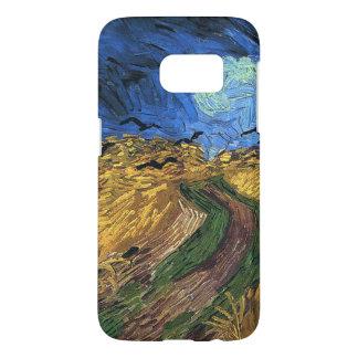 Vincent van Gogh-Wheatfield con los cuervos Funda Samsung Galaxy S7