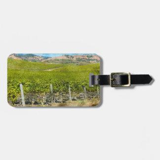 Viñedo del vino de California Etiquetas Para Maletas