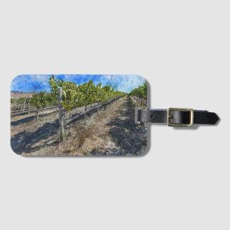 Viñedo del vino en Napa Valley Etiqueta Para Maletas