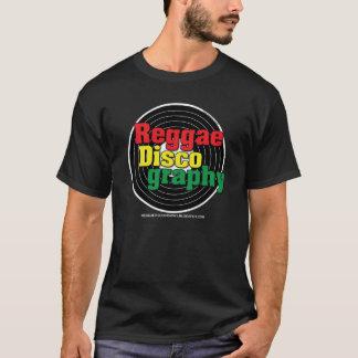 Vinilo de la discografía del reggae en negro camiseta