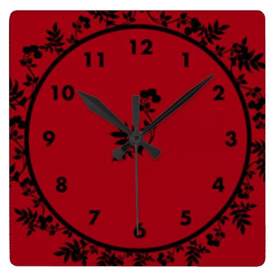 Vino de Rosey Reloj Cuadrado