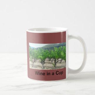 Vino en una taza