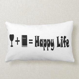 Vino + Libro = almohada feliz de la vida