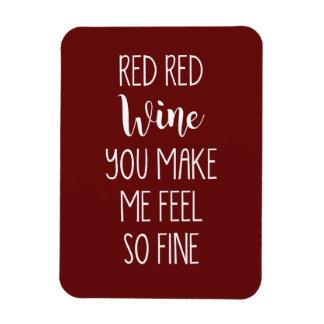 Vino rojo rojo - imán