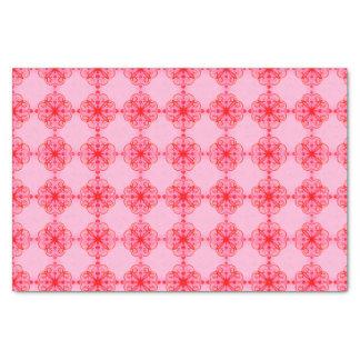 Vino rosado del papel seda floral elegante pequeño