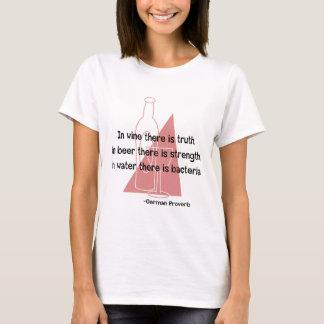 Vino Veritas del En - retro Camiseta