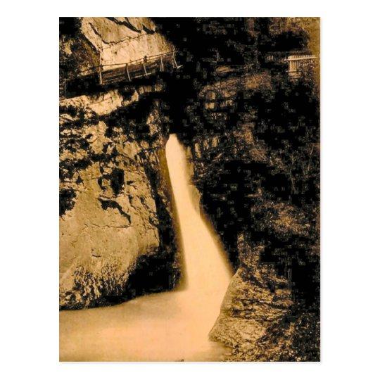 Vintage, 1890, caídas de Trummelbach, Postal