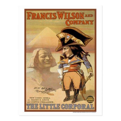 Vintage 1898 la pequeña ópera cómica corporal postales