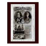 Vintage 1935, 25to rey George V de la adhesión del Tarjeta Postal