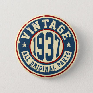 Vintage 1937 todas las piezas de la original chapa redonda de 5 cm