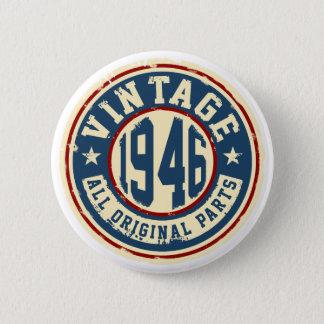 Vintage 1946 todas las piezas de la original chapa redonda de 5 cm