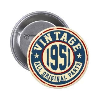 Vintage 1951 todas las piezas de la original chapa redonda de 5 cm