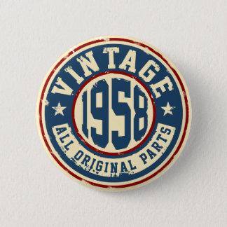 Vintage 1958 todas las piezas de la original chapa redonda de 5 cm