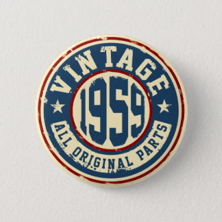 Vintage 1959 todas las piezas de la original chapa redonda de 5 cm
