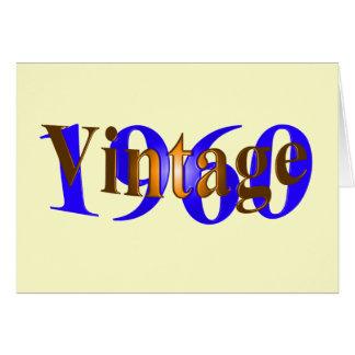 Vintage 1960 tarjeta de felicitación