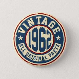 Vintage 1962 todas las piezas de la original chapa redonda de 5 cm
