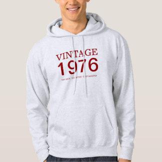 vintage 1976 el hombre, el mito, la leyenda pulóver con capucha