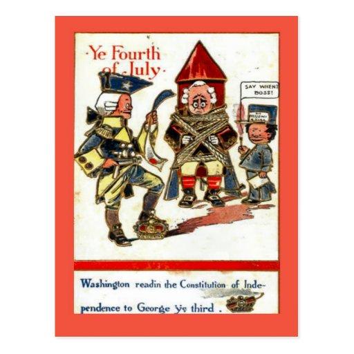 Vintage 4to de la reproducción de la postal George