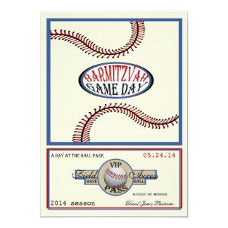 Vintage 5 x 7 retros barra Mitzvah del béisbol Invitación 12,7 X 17,8 Cm