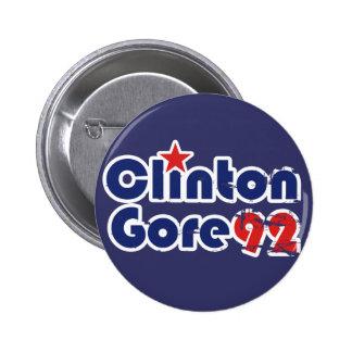 Vintage 90s Clinton Gore 1992 Chapa Redonda 5 Cm