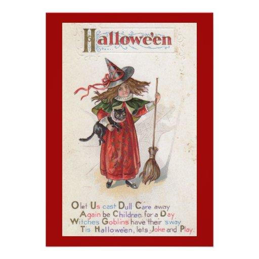 Vintage adulto de Halloween de la pequeña bruja Comunicados Personales