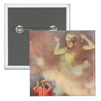 Vintage Aladdin y los genios de la lámpara, Godwin Chapa Cuadrada 5 Cm