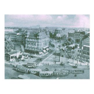 Vintage Alemania, tranvías en el Potsdammer Platz Tarjetas Postales