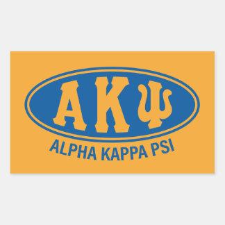 Vintage alfa de Kappa PSI el   Pegatina Rectangular