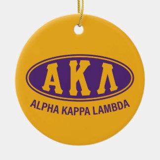 Vintage alfa de la lambda el | de Kappa Adorno Navideño Redondo De Cerámica