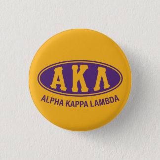 Vintage alfa de la lambda el | de Kappa Chapa Redonda De 2,5 Cm