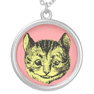 Vintage Alicia en colgante del gato de Cheshire de