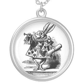Vintage Alicia en el conejo blanco del país de las Colgante Redondo