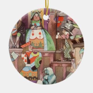 Vintage Alicia en el país de las maravillas, reina Ornaments Para Arbol De Navidad