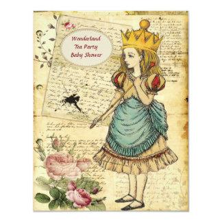 Vintage Alicia en la princesa fiesta de bienvenida Invitación 10,8 X 13,9 Cm
