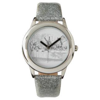 Vintage Alicia en reloj de la fiesta del té del