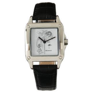 Vintage Alicia en reloj del país de las maravillas