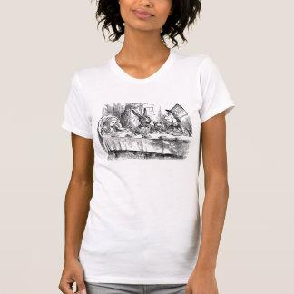 Vintage Alicia en té enojado del conejo del Camisetas