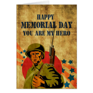 Vintage americano del soldado de la Segunda Guerra Tarjeta