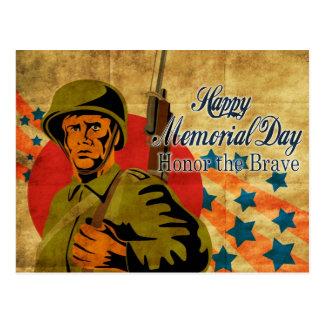 Vintage americano del soldado de la Segunda Guerra Tarjeta Postal