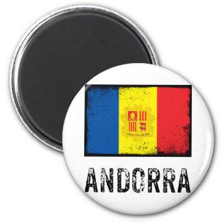 Vintage Andorra Imán Redondo 5 Cm