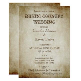 Vintage apenado boda rústico del país invitación 12,7 x 17,8 cm