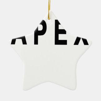 Vintage Apex Tshirts.png Adorno Navideño De Cerámica En Forma De Estrella