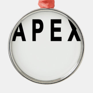 Vintage Apex Tshirts.png Adorno Navideño Redondo De Metal