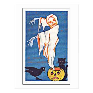 Vintage asustadizo Halloween del fantasma Postal