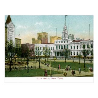 """Vintage """"ayuntamiento"""" Nueva York Postal"""