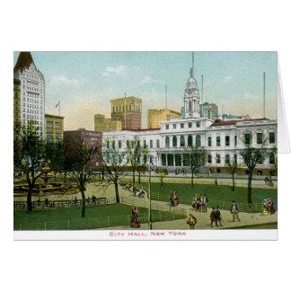 """Vintage """"ayuntamiento"""" Nueva York Tarjeta De Felicitación"""