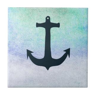 Vintage azul del verano de la playa náutica del azulejo