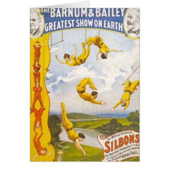 Vintage Barnum y circo de Bailey Tarjeta De Felicitación